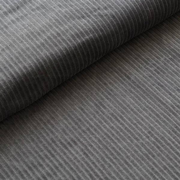 Bilde av Økologisk myk cordfløyel, mørk grå