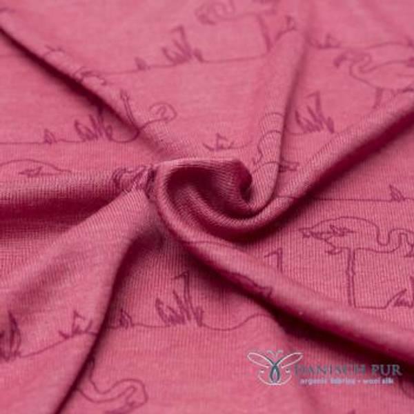 Bilde av Økologisk ull/silke, flamingo