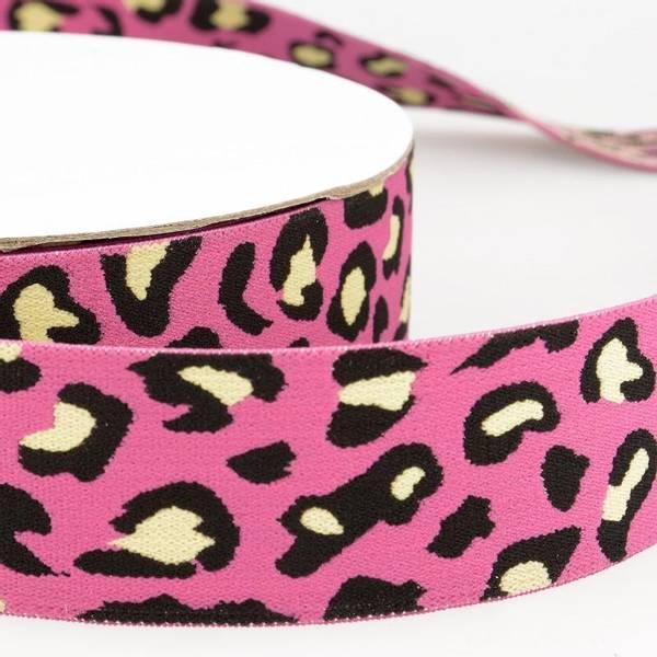 Bilde av 4cm boxerstrikk, leopard rosa