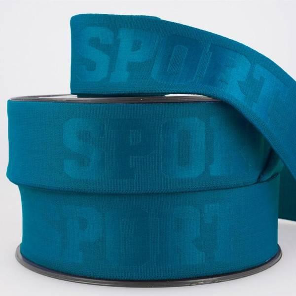 Bilde av 4cm sportstrikk, petrolblå