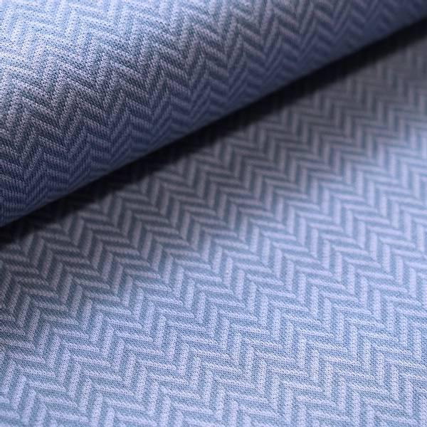 Bilde av Økologisk bomullsjacquard, herringbone jeans