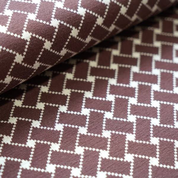 Bilde av Økologisk bomullsjacquard, flettemønster brun