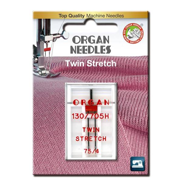 Bilde av Organ tvillingnål stretch, 4mm, 75