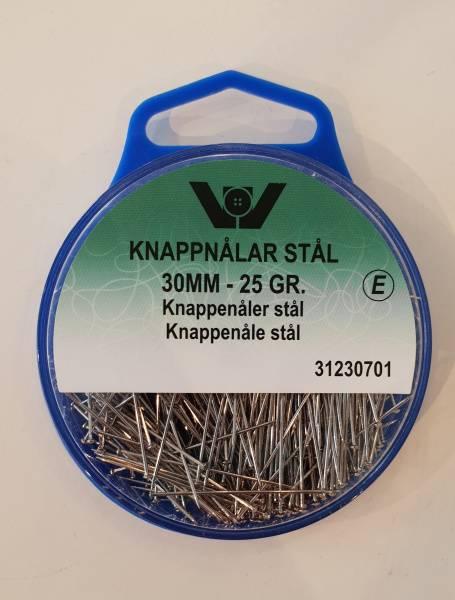 Bilde av Knappenåler stål 30mm, 25g